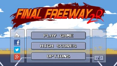 Final Freeway 2R Title Screen
