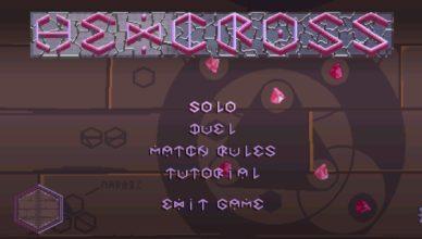 Hexcross Title Screen