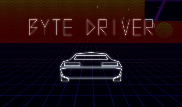 Byte Driver title screen