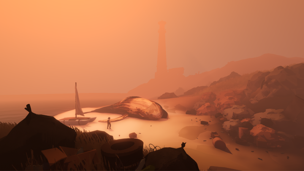 Plasticity Screenshot - Dead whale on the beach