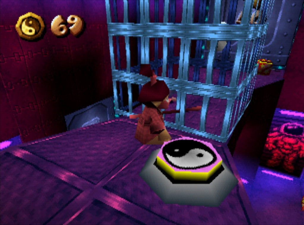 To get on this side of the cage in this space level, you have to go through a good portion of the level!