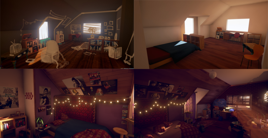 Marie's Room Design Progression