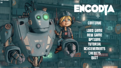 Encodya Title Screen