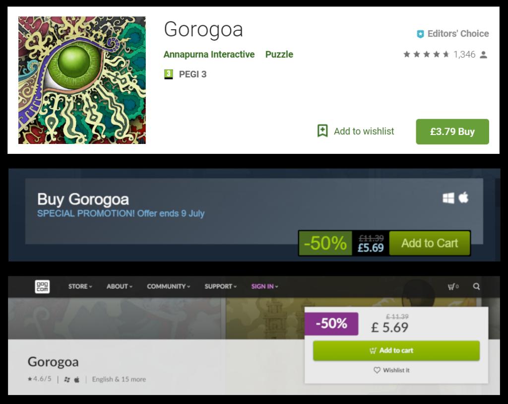 Gorogoa Price Comparison