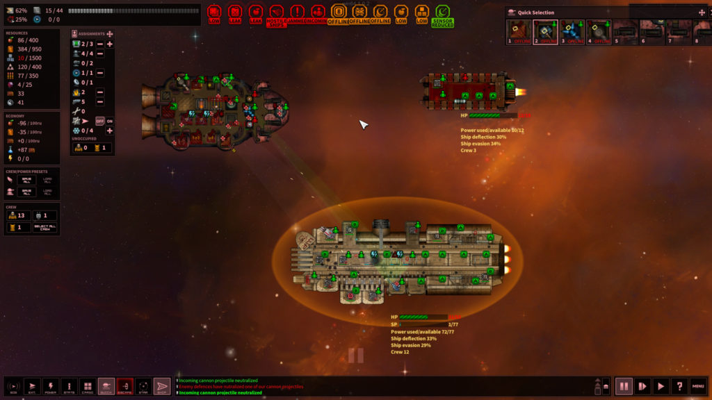 Shortest Trip to Earth - Combat Screenshot