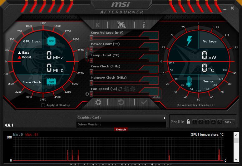 MSI Afterburner Screenshot