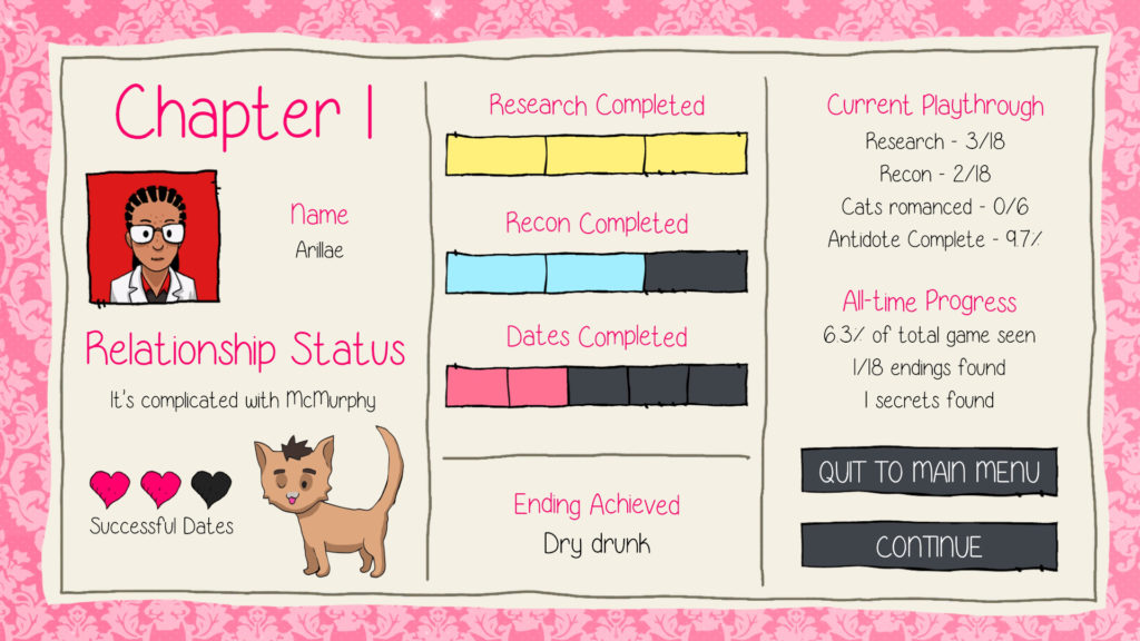Purrfect Date Screenshot - Chapter One Summary