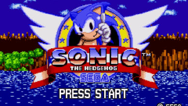 Sonic the Hedgehog Genesis title screen