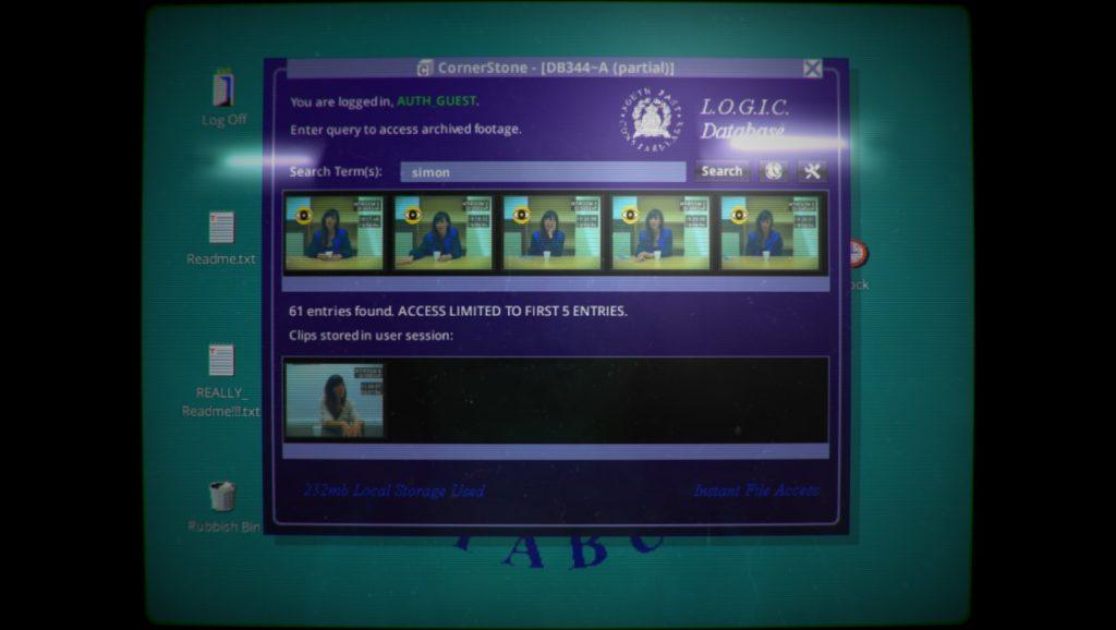 Her Story Opening Screenshot