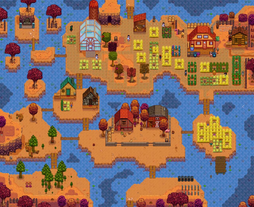 Stardew Valley screenshot showing water farm
