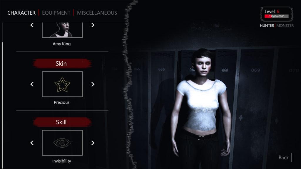 Beyond Senses Screenshot - Character Customisation Screen