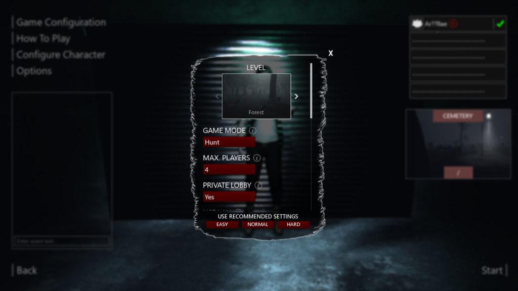 Beyond Senses Screenshot - Game Mode Configuration