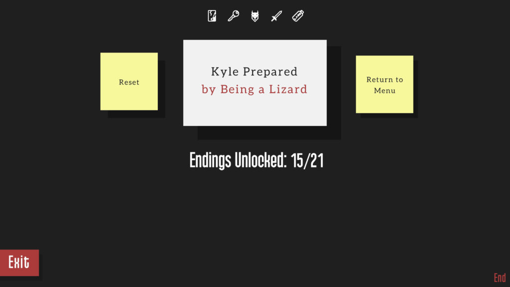 Kyle is Famous Screenshot - Lizard Ending Version One