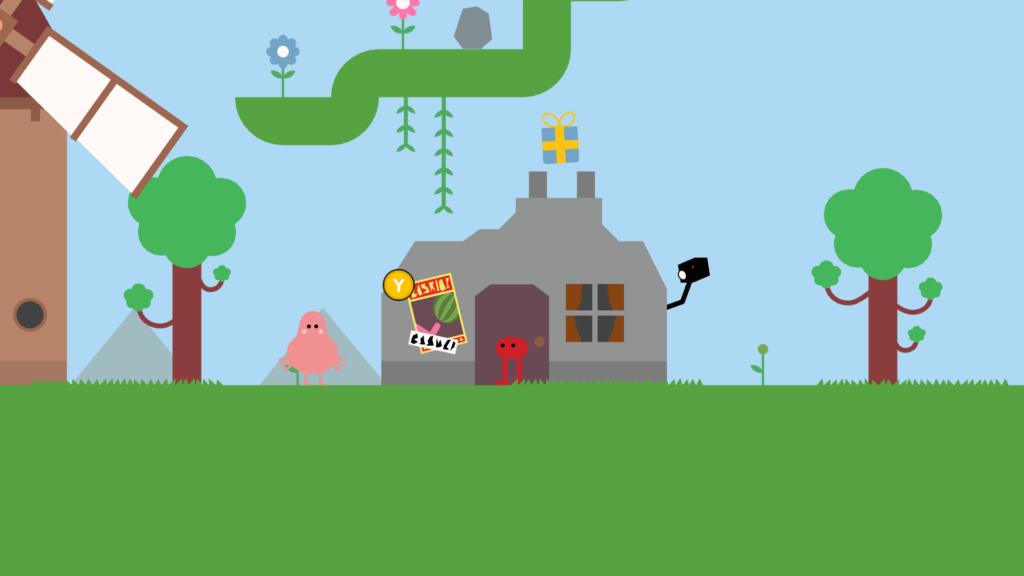 Screenshot of Pikuniku's valley village