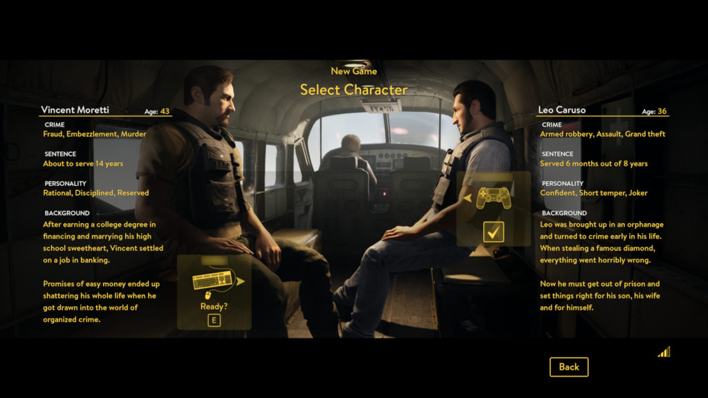 A Way Out Screenshot - Character Selection Menu
