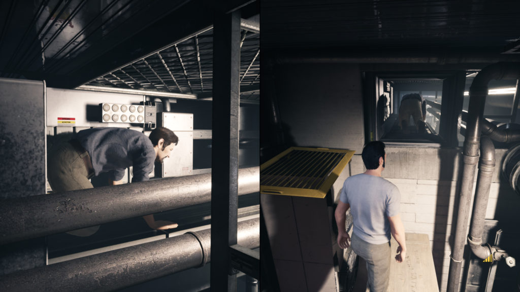A Way Out Screenshot - Split Screen View