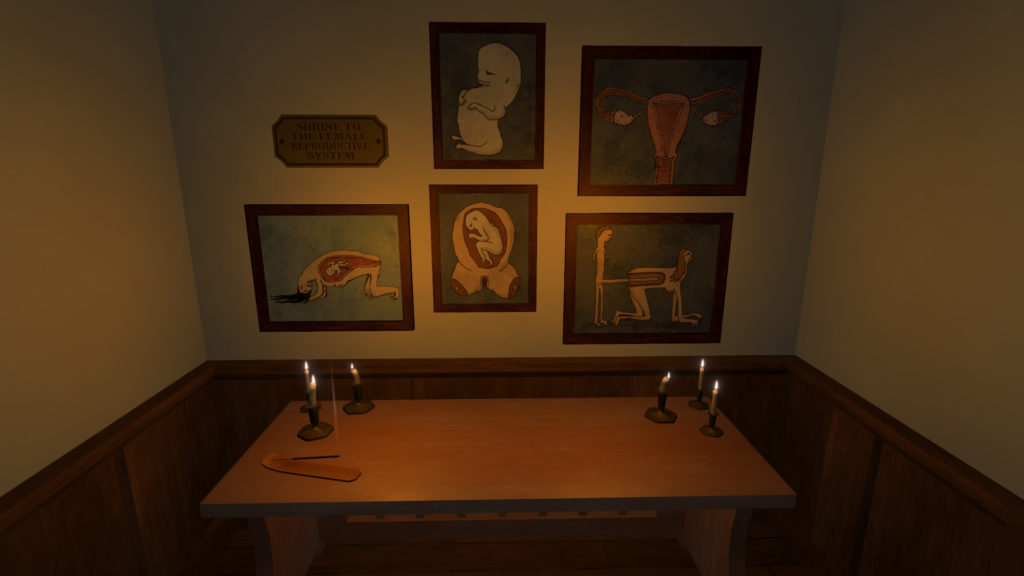 Bucket Detective Screenshot - Shrine to the Female Reproductive System