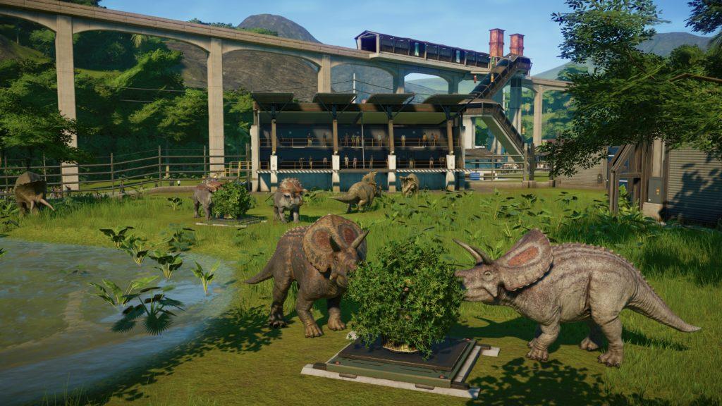 Jurassic World Evolution Screenshot - Herbivore Enclosure on Isla Tacano