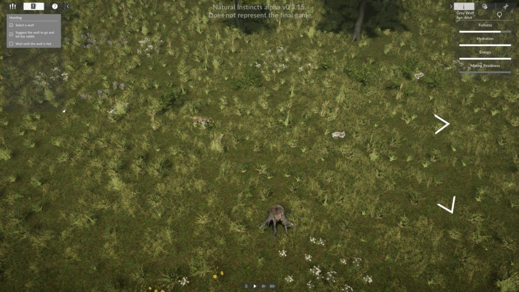 Natural Instincts Screenshot - Wolf chasing its leporine lunch