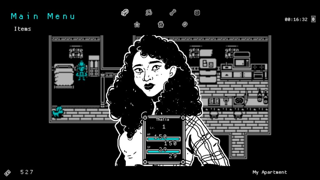 She Dreams Elsewhere Screenshot - Thalia Main Menu