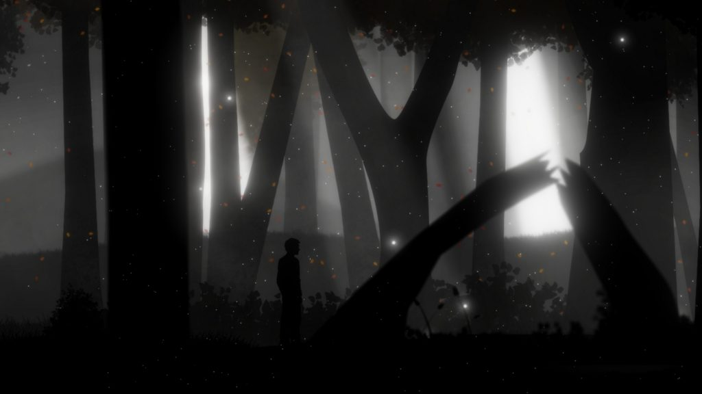Into a Dream Screenshot - Autumn Leaves and Silhouettes