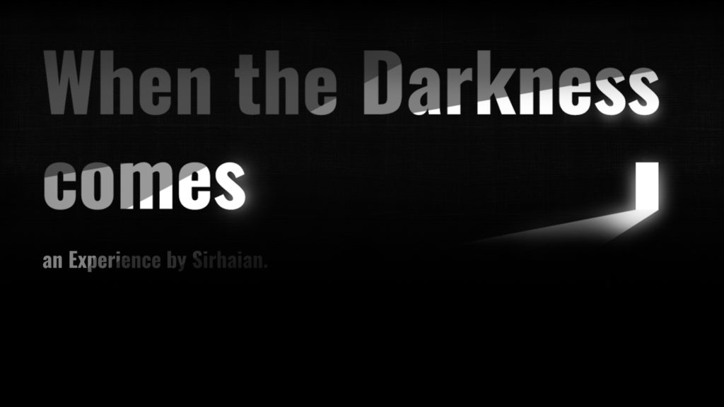 When the Darkness Comes - Key Art